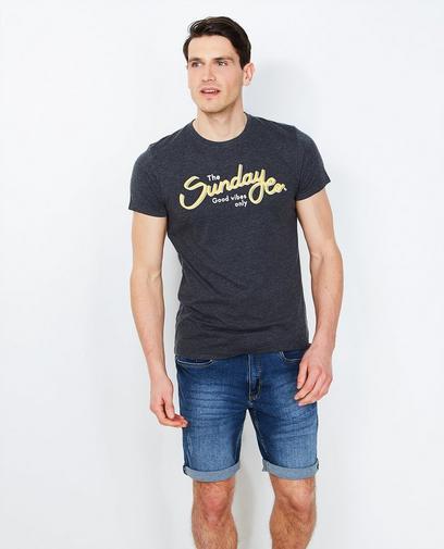 Donkergrijs T-shirt
